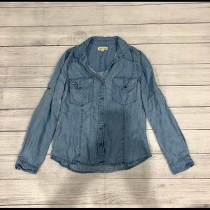 cloth & stone chambray button down top